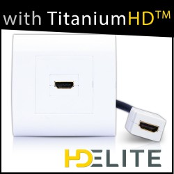 Prise murale simple HDMI 1.4 + rallonge
